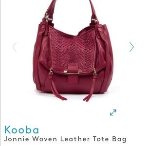 Kooba Johnnie Woven leather Tote Bag - Brand New